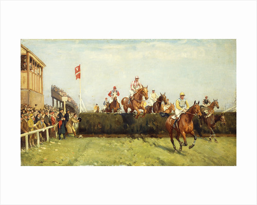 The Grand National Steeplechase: Valentine's Jump by John Sanderson Wells