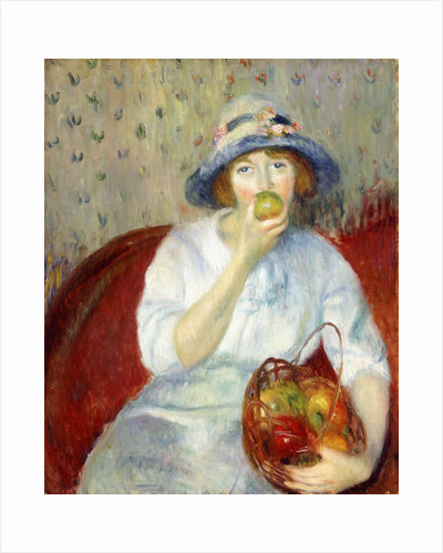 Girl with Green Apple by William James Glackens