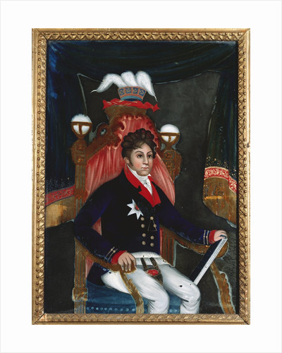 An Anglo Chinese reverse glass painting of George IV as Prince Regent by Corbis