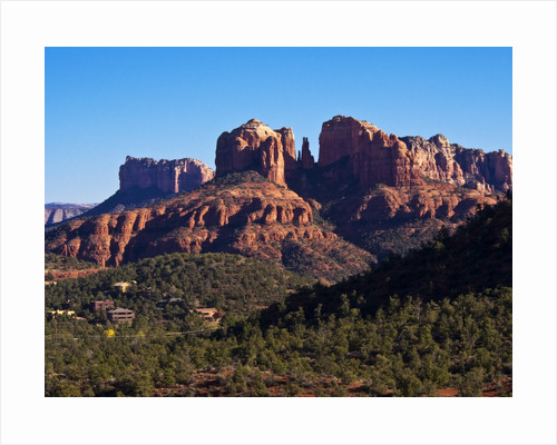 Red Rock Mountains near Red Rock Crossing by Corbis