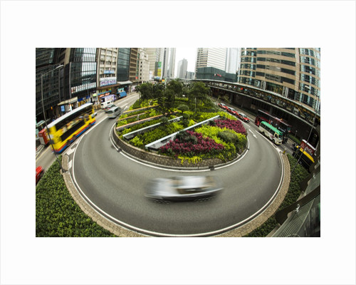 Traffic Circle in Down Town Hong Kong with Motion by Corbis
