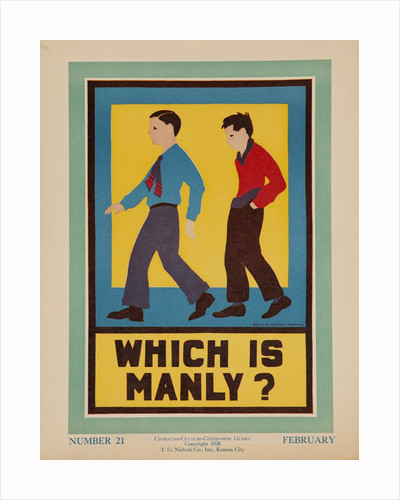 Character Culture Citizenship Guides Original Poster, Which is Manly? by Corbis