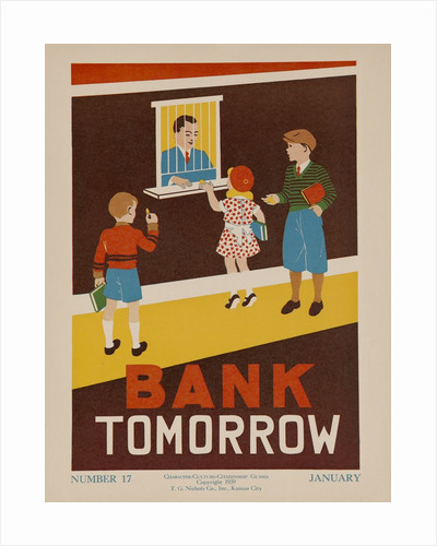 Character Culture Citizenship Guides Original Poster, Bank Tomorrow by Corbis