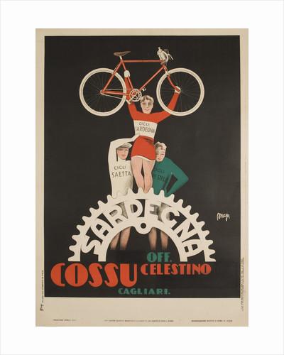 Bicycles Cossu Sardegna, Italian Advertising Poster by Corbis