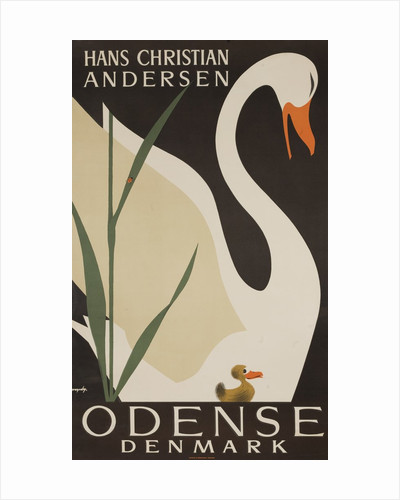 Odense Denmark Travel Poster, Hans Christian Andersen Ugly Duckling by Corbis