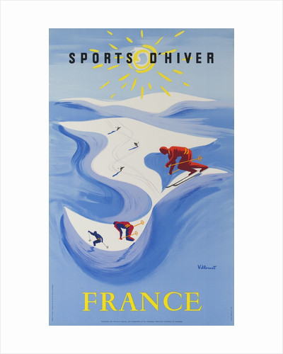 Sports D'Hiver, France, French Travel Poster Winter Sports by Corbis