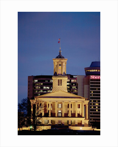 State Capitol of Tennessee, Nashville at dusk by Corbis