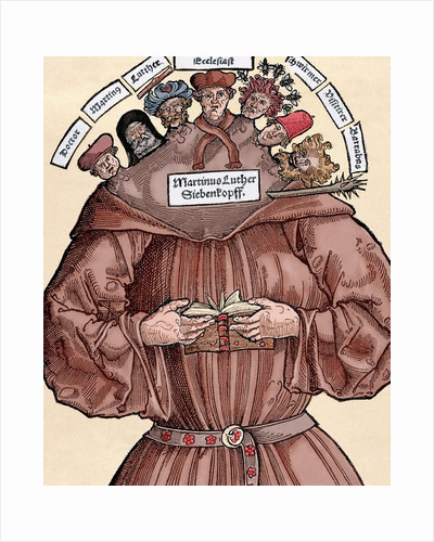 Protestant Reformation. Satire against Martin Luther (1483-1546). by Corbis