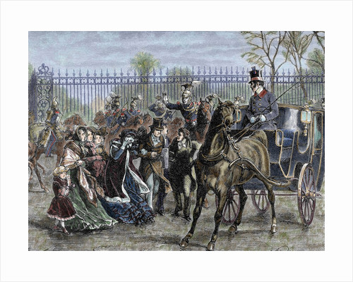 French Liberal Revolution (February 1848). Louis Philippe and his family out of the Tuileries Palace by Corbis
