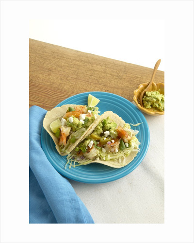 Shrimp tacos by Corbis