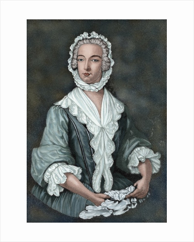 Charles Edward Stuart (1720-1788) disguised as Betty Burke, 1747. Engraving. Colored. by Corbis