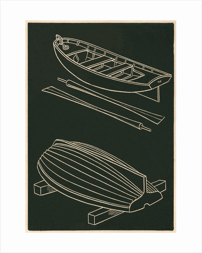 Rowboats and Oars in Black and White by Corbis