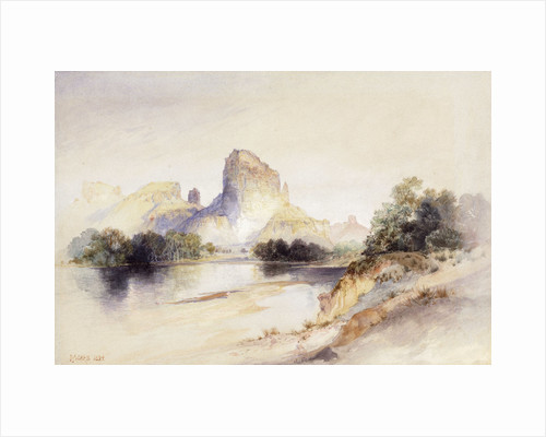 Castle Butte, Green River, Wyoming by Thomas Moran