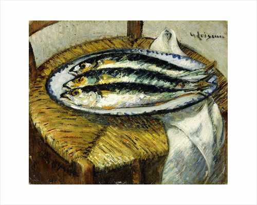 The Dish of Mackerels by Gustave Loiseau