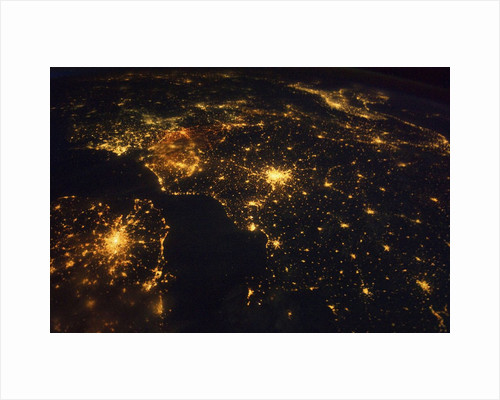 Northwestern Europe at night, from the International Space Station by Corbis
