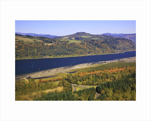 Looking East up the Columbia River, Columbia River Gorge National Scenic Area, Oregon by Corbis