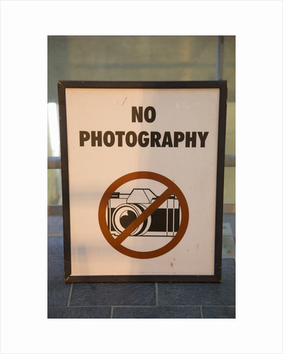No Photography Sign by Corbis