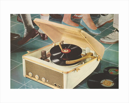 Portable Record Player by Corbis