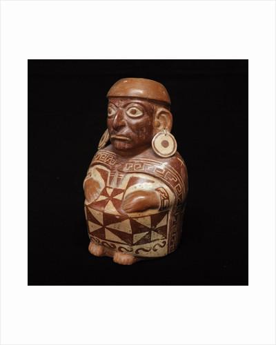 Moche anthropomorphic bottle by Corbis
