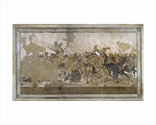 Mosaic of Battle of Issus between Alexander the Great and Darius III by Corbis