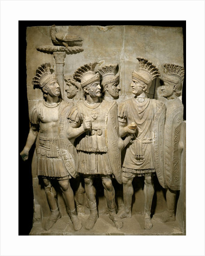 Roman marble relief of the Praetorian Guard by Corbis