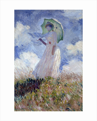 Woman with Parasol turned on the left by Claude Monet