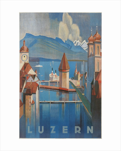 Travel Poster for Lucerne, Switzerland by Corbis