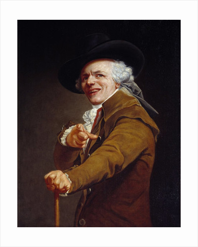 Self-Portrait of the artist with a mocking face by Joseph Ducreux