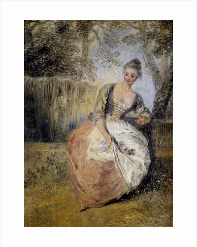 The Anxious Lover by Jean Antoine Watteau