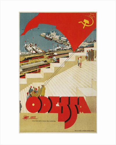 Travel Poster for Odessa, USSR by Corbis