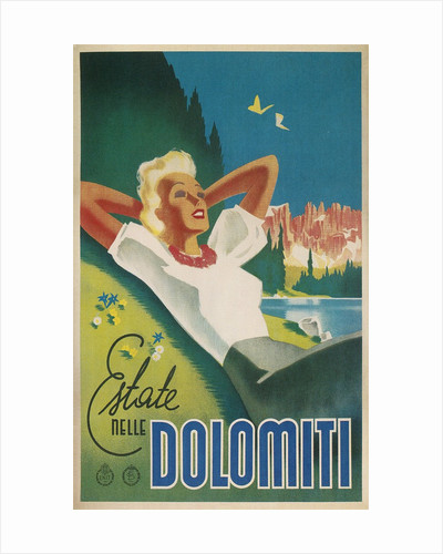Travel Poster for the Dolomites, Italy by Corbis