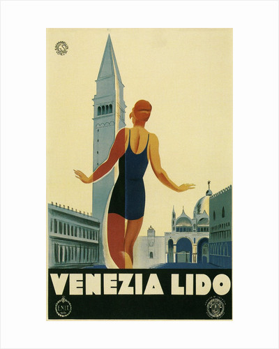 Travel Poster for the Lido, Venice, Italy by Corbis