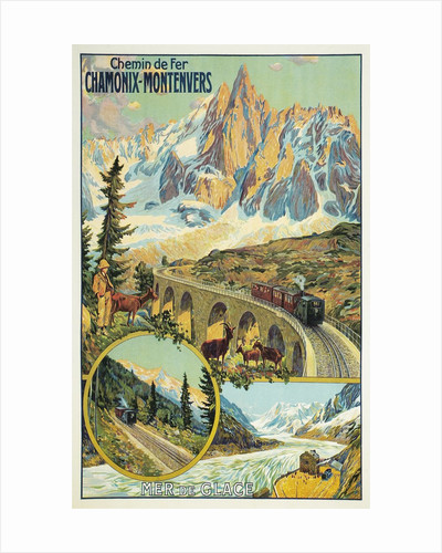 Vintage Travel Poster for Chamonix, France by Corbis