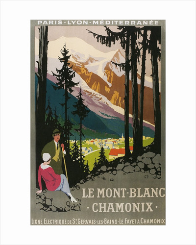 Travel Poster for Chamonix by Corbis