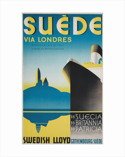 Travel Poster for Swedish Cruise Ships by Corbis