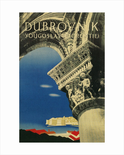 Travel Poster for Dubrovnik, Croatia by Corbis