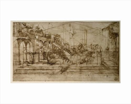 Study for Perspective with Animals and Figures by Leonardo da Vinci