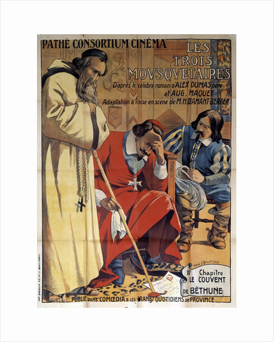 """Poster of the play """"The Three Musketeers"""", 1920 by Corbis"""