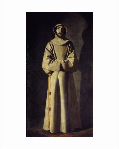 Portrait of St. Francis of Assisi by Francisco de Zurbaran