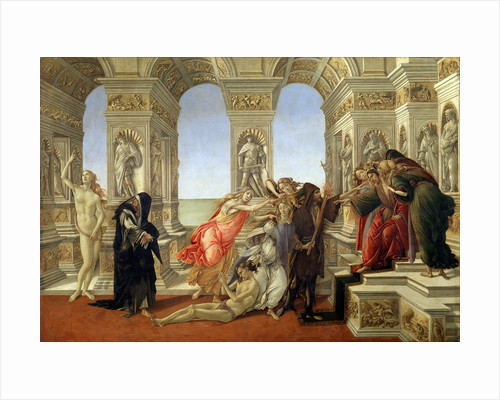 Calumny of Apelles by Sandro Botticelli