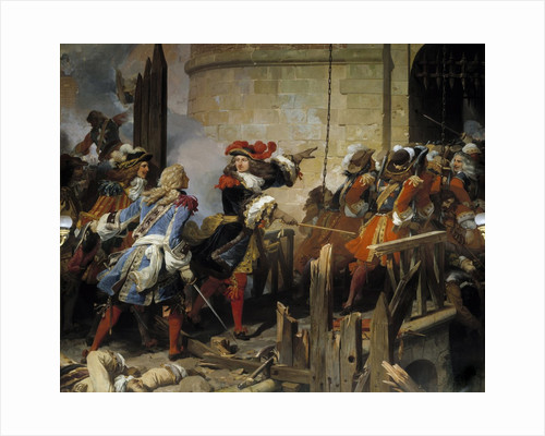 Valenciennes stormed by Louis XIV on 17/03/1677 by Jean Alaux