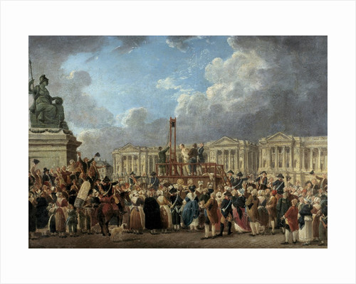 A capital execution Place de la Revolution by Pierre Demachy
