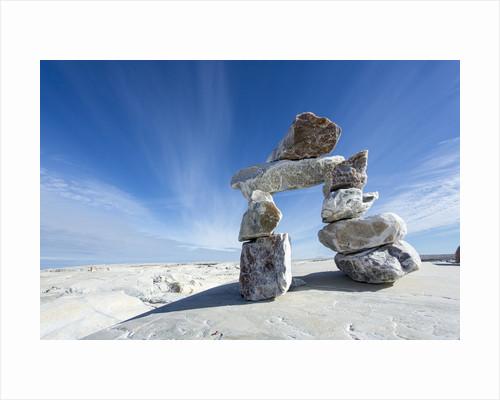 Inukshuk, Nunavut Territory, Canada by Corbis