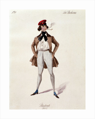 "A student, character of the opera ""La boheme"" by Corbis"