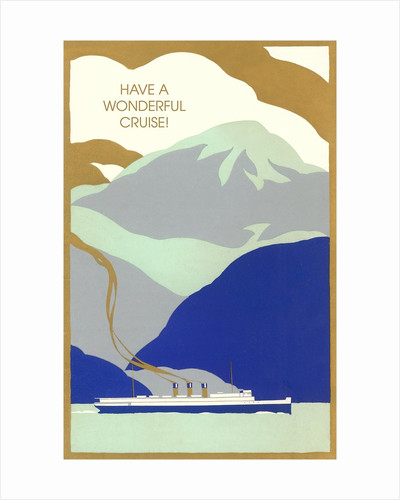 Art Deco Ocean Liner, Have a Wonderful Cruise by Corbis