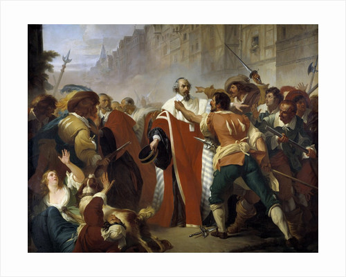 Mathieu Mole resisting to the dissidents at the time of the Fronde by Corbis