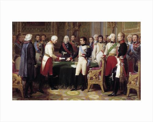 Congress of Erfurt, Napoleon I receiving the Austrian ambassador by Nicolas Gosse