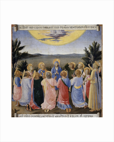 Ascension of Jesus Christ from the Armadio degli Argenti Painting Series by Fra Angelico