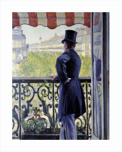 The man on the balcony by Gustave Caillebotte