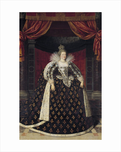 Portrait of Marie de Medici, Queen of France by Frans Pourbus the Younger